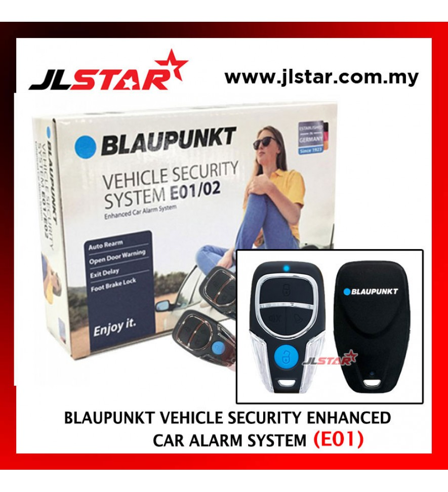 BLAUPUNKT VEHICLE ENHANCED CAR ALARM SECURITY SYSTEM E01 WITH BRAKE LOCK FUNCTION 13 PIN
