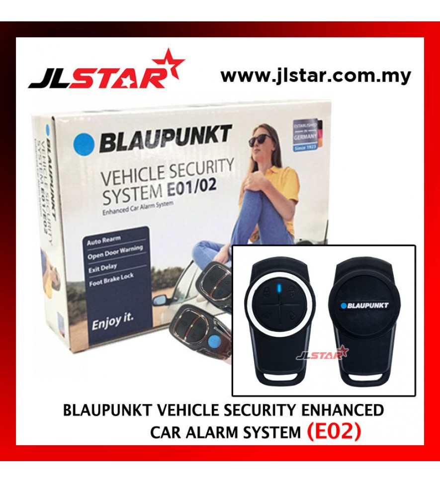 BLAUPUNKT VEHICLE ENHANCED CAR ALARM SECURITY SYSTEM E02 WITH BRAKE LOCK FUNCTION 13 PIN