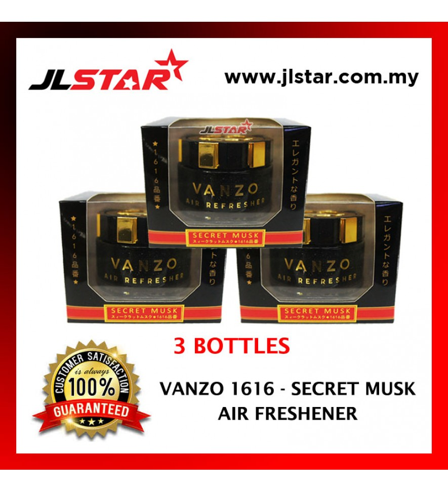 3 X VANZO 1616 SECRET MUSK LX  AIR FRESHENER