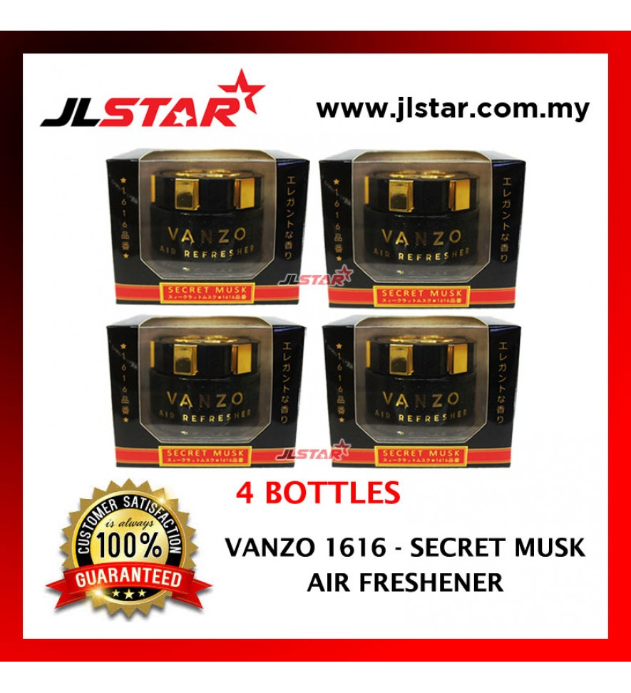4 X VANZO 1616 SECRET MUSK LX  AIR FRESHENER