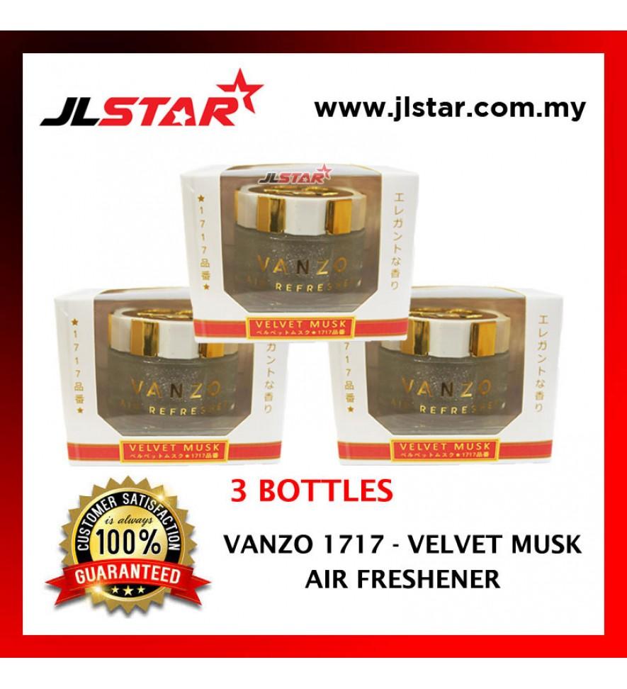 3 X VANZO 1717 VELVET MUSK LX AIR FRESHENER