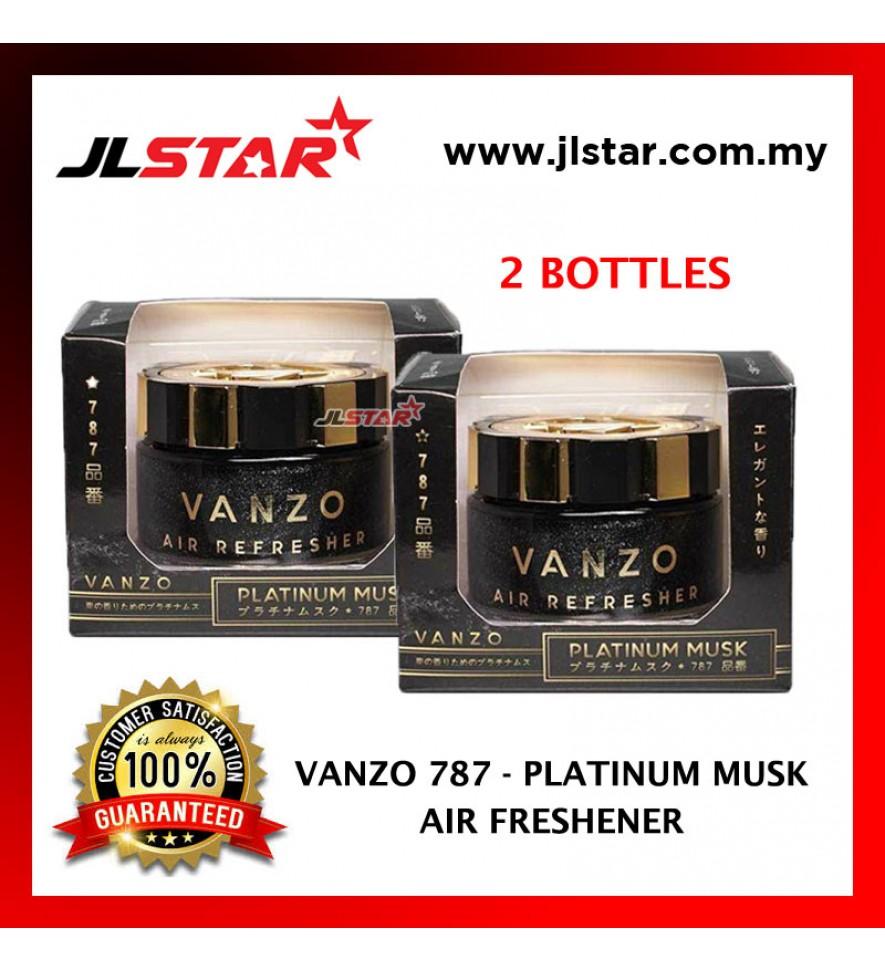 2 X VANZO 787 PLATINUM MUSK AIR FRESHENER