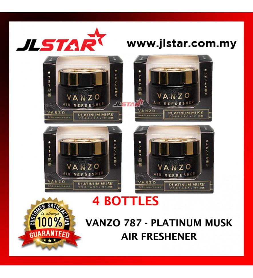 4 X VANZO 787 PLATINUM MUSK AIR FRESHENER